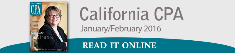 California CPA January-February 2016