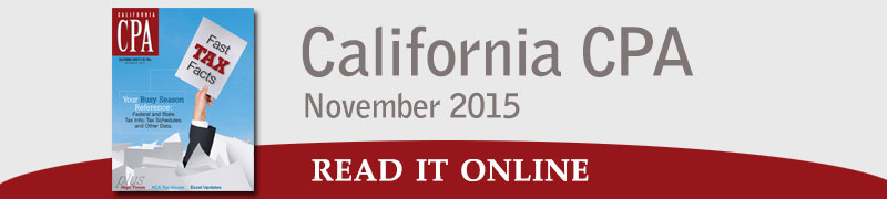 California CPA - Nov 2015