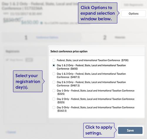Registration Options