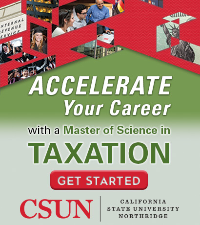 Accelerate your career with a master of Science in Taxation at CSUN