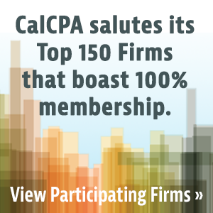 CalCPA salutes its Top 100 Firms that boast 100% membership.