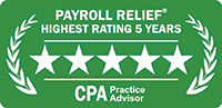 Payroll Relief Award - 5 stars